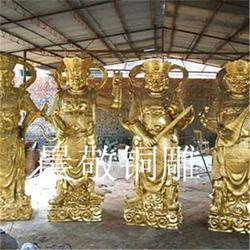 四大天王雕塑-鼎泰雕塑-铜雕四大天王雕塑