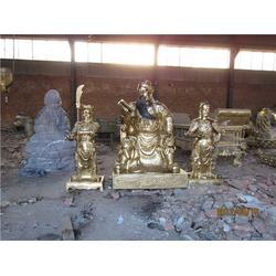 大型铸铜关公-鼎泰雕塑-广东铸铜关公图片