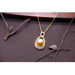 珍珠耳环-肇庆热卖金色珍珠项链供应图片