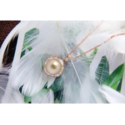 南洋金珍珠加工-想要不错的金色珍珠项链请锁定金麒福珠宝图片