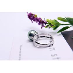大溪地黑珍珠项链-想要新款黑珍珠戒指请锁定金麒福珠宝图片