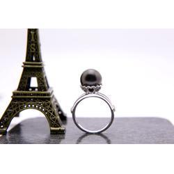 大溪地黑珍珠孔雀绿-专业的黑珍珠戒指公司-金麒福珠宝图片