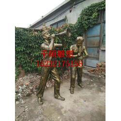 玻璃钢雕塑仿铜民俗系列 商业街摆件图片
