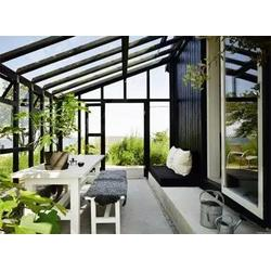 铝合金玻璃隔断办公百叶门窗阳光房封露台图片