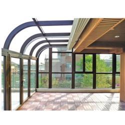 灰色铝合金断桥铝门窗,高层封阳台,断桥铝隔音门窗图片