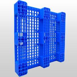 网格双面型塑料托盘 机动叉车四向使用托盘图片