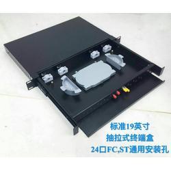 24口光纤盒接线盒SC机架式光纤终端盒光纤接线盒图片