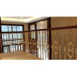 别墅铝楼梯高档豪华装饰雕花楼梯图片