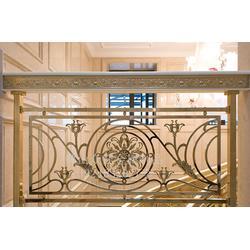 铝艺艺术雕刻酒店专用楼梯护栏图片