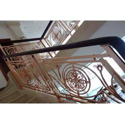 欧式别墅旋转楼梯铝艺楼梯护栏定制图片