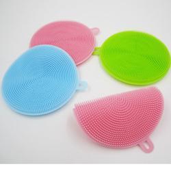 厂家直销硅胶洗碗刷清洗刷洗物刷厨房清洁用品万能洗刷神器圆形图片