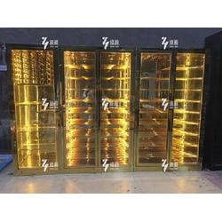 秦皇岛不锈钢酒柜-臻瀚金属-不锈钢酒柜工厂图片