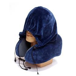 赛恩记忆棉连帽旅行颈枕 飞机汽车脖子护颈枕头图片
