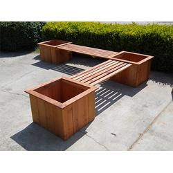 户外优质木塑花箱,塑木工程园艺花箱,室外道路移动花箱组合图片