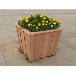 户外景观花箱,木塑花箱,木制花箱图片