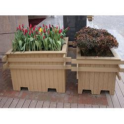 道路隔离带组合花,塑木隔离带花箱厂家直销图片