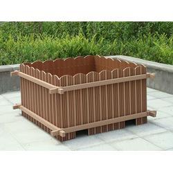 木塑花箱,塑木花箱生产厂家,防水防腐木塑花箱报价图片