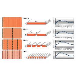 展廳條形木質吸音板,音樂廳阻尼木質隔音板,別墅環保木質吸音板圖片