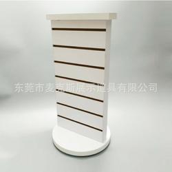 麦克斯双面旋转展示台白色袜子挂钩陈列架展览会木制多功能旋转展示架图片