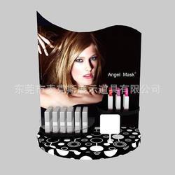 麦克斯压克力口红台式架子 国际经典款唇彩黑色展示道具彩妆展示支架图片