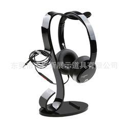 出口日本耳机架 黑色亚克力数码展座台式简约智能设备耳机挂式架图片