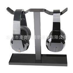 出口美国耳机支架 黑色有机玻璃数码产品展示道具简约电子产品图片