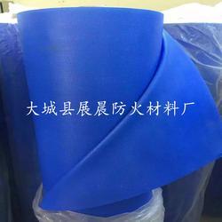 生产蓝色硅胶防火布 防火布图片