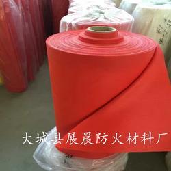 生产红色硅胶防火布 硅胶防火布厂家图片