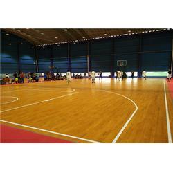 木地板篮球场及木地板羽毛球场施工建设厂家图片