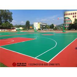 籃球場施工建設及塑膠硅PU籃球場建設廠家圖片