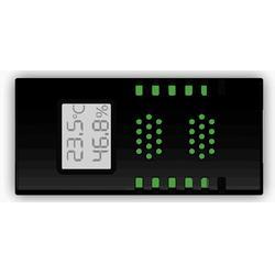 液晶显示型双网口RJ45接头modbus通讯协议温湿度传感器图片
