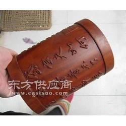 竹雕笔筒雕刻机 数控笔筒工艺品雕刻机图片