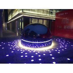 定制不锈钢镜面鲸鱼雕塑 户外灯光鱼动物雕塑夜景摆件图片
