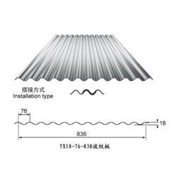 优质特惠0.9mm 横装铝镁锰圆波瓦楞板墙面图片