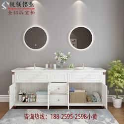全铝家具厂家铝合金浴室柜材料全铝家具铝材木纹色浴室柜铝材图片