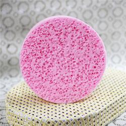 粉色洗脸扑木浆棉图片