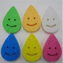 厂家 加厚超细柔洁肤洁面扑天然木浆棉洗脸颜化妆海绵粉扑图片