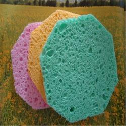 彩色清洁沐浴木浆棉厂家直销形状可定制颜色可定制图片