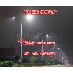 路灯杆造型灯-挂路灯杆上的LED中国结-发光中国结灯图片