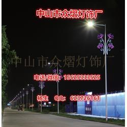 服务周到 火树银花灯杆 LED压克力中国结图片