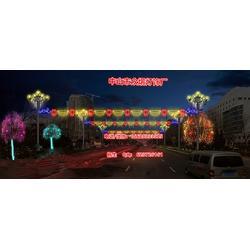 不锈钢做的支架造型灯,LED铁架 彩虹管做的造型花朵灯,路灯杆造型灯新突破图片