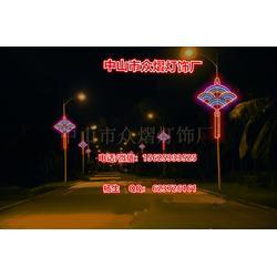 MJY带字发光LED中国结-中国结厂家-挂路灯杆中国结图片