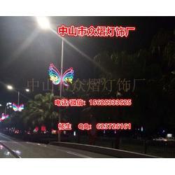 LED亮化中国结-配带防水电源LED中国结-整体通红发光中国结图片