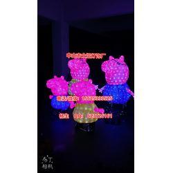 工厂定制灯光节钱柜娱乐2019新品滴胶米老鼠造型灯小猪佩奇一家亲图片