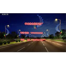 铁架造型中国结灯,街道亮化灯,步行街装饰灯,LED平面造型灯,春节街道亮化灯图片