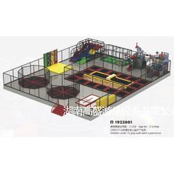蹦床厂家,大型蹦床设备,儿童超级蹦床公园,高盛游乐设备图片
