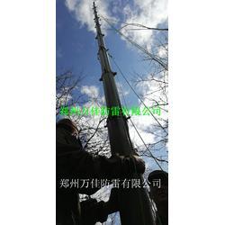 通信车载照明灯升降杆,监控摄像头升降云台杆,14米野战便携式升降避雷针图片