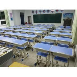 银川学生课桌椅-好用的银川课桌椅银川厂家直销图片