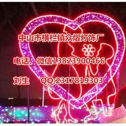 七夕梦幻灯光节富士山下浪漫求婚造型花灯图片