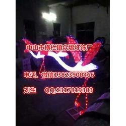 LED立体冰雕灯滴胶火烈鸟造型灯抽丝拉火烈鸟图片